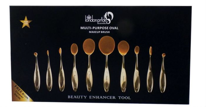 Πινέλα Oval Σετ 10 τμχ Gold & Brush Cleaning Glove