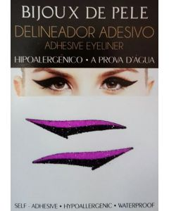Adhesive Eyeliner Winehouse 1 Black & Violet (1 pair)
