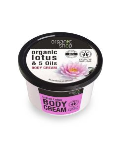 Organic Shop Body Cream with Lotus & Oils 250ml
