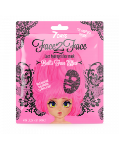 Face 2 Face Lace Hydrogel Mask Doll's Face Effect