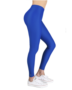 """Jacqueline"" Matte Blue Leggings"