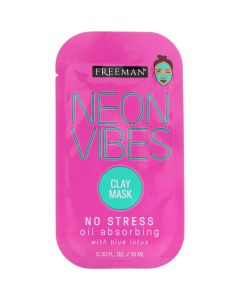 Neon Vibes No Stress Oil Absorbing Blue Lotus Clay Mask 35ml