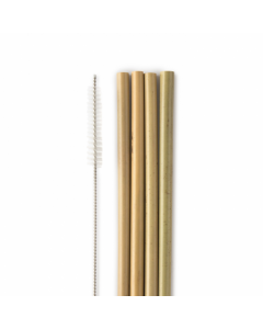 Humble Natural Bamboo Straws 4pc