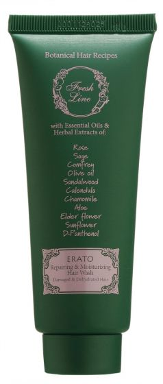 Erato Repairing & Moisturising Hair Wash for damaged and dehydrated hair 75 ml
