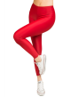 """Jacqueline"" Matte Red Leggings"