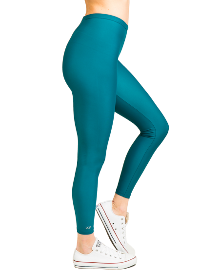 """Jacqueline"" Matte Dark Green Leggings"
