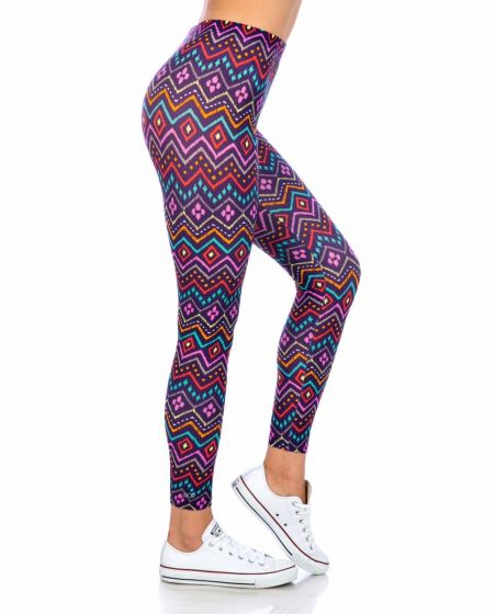 Genesis – Tribal Blackberry Print Leggings