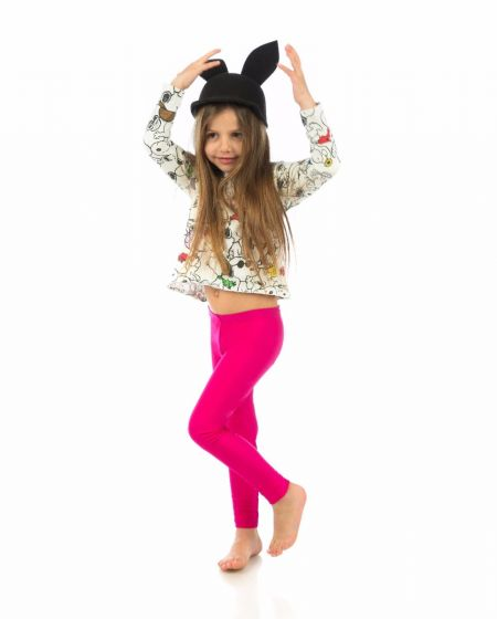 """Jaqueline"" Magenta Kiddo Leggings"